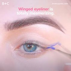 Swooning over perfectly winged eyeliner!