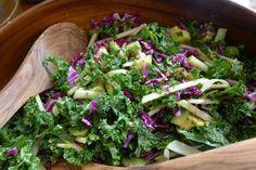 Crunchy Kale Salad with Orange Ginger Dressing