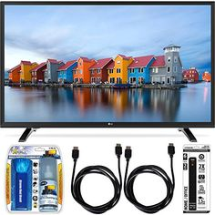 LG 32LH500B 32-Inch HD 720p 60Hz LED TV Essential Accessory Bundle includes TV, Screen Cleaning Kit, 6 Outlet Power Strip with Dual USB…
