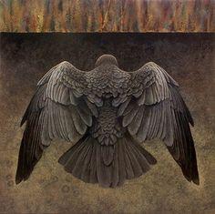 Black Bird: Dark Exposure - acrylic painting on handcrafted Baltic Birch by artist Claire Duncan. The Crow, Crow Art, Bird Art, Raven Bird, Raven Wings, Dark Wings, Crows Ravens, Bird Sculpture, Bird Drawings