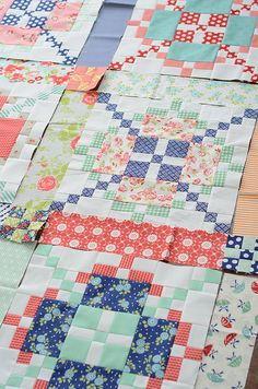 Quilting along - Simplify - Another Burgoynne Surrounded pattern in vivid colors!