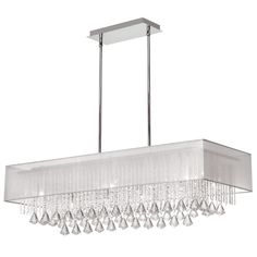 Dainolite - JAC3610-J5638140-819 10-Light Chrome Rectangular Crystal Pendant - DistrictDecor