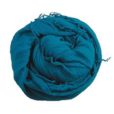 This soft cashmere royal blue scarf would make a colorful accent