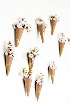 DIY Dorm Room Decor Ideas - Blossoming Flower Cone Wall Display - Cheap DIY Dorm Decor Projects for College Rooms - Cool Crafts, Wall Art, Easy Organization for Girls - Fun DYI Tutorials for Teens and College Students http://diyprojectsforteens.com/diy-dorm-room-decor