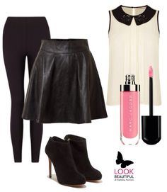 Black leather & bonton
