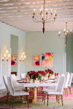 Awesome 32 Valentine's Day Romantic Dining Table Decor for Two Ideas