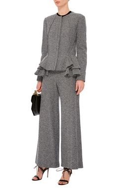 Tweed Jersey Flared Culottes by DEREK LAM Now Available on Moda Operandi