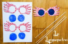 Potter Frenchy Party - DIY Harry Potter luna lovegood spectrespecs