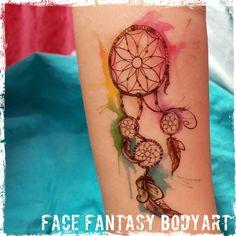 Festival boho temporary tattoo by Face Fantasy BodyArt