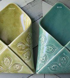 Porcelain Envelope Wall Vases