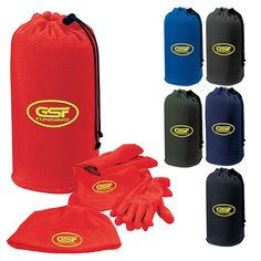 Warm up your promotions with the Snowball 3-Pack Set. It's a set of fleece gloves, a scarf and cap that is sure to make an impact on your business! Includes a fleece carrying pouch to keep track of all items. Great item to warm up your promotions.