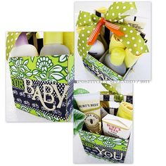 Baby shower gift using a beverage box! Wow!