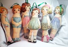 Ornament Vintage Inspired Paper Doll Natalie by PersimonDreams