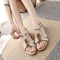 $7.99 (Buy here: https://alitems.com/g/1e8d114494ebda23ff8b16525dc3e8/?i=5&ulp=https%3A%2F%2Fwww.aliexpress.com%2Fitem%2FWomen-s-Casual-Peep-toe-Flat-Buckle-Shoes-Roman-Summer-Sandals%2F32798477048.html ) Women's Casual Peep-toe Flat Buckle Shoes Roman Summer Sandals for just $7.99