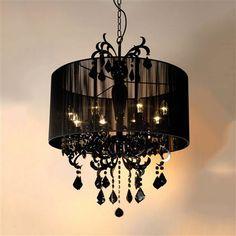 Lámpara de araña de 8 brazos de The Stylish Chandelier, negro