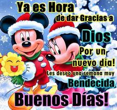 Ya es hora de dar gracias a Dios por un nuevo día, les deseo una semana muy bendecida. Buenos días lunes, que disfruten de este hermoso día. La hora es la