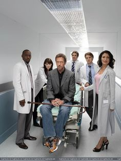 """(l-r) Omar Epps as Dr. Taylor Foreman, Jennifer Morrison as Dr. Allison Cameron, Hugh Laurie as Dr. Greg House, Robert Sean Leonard as Dr. James Wilson, Jesse Spencer as Dr. Robert Chase, and Lisa Edelstein as Dr. Lisa Cuddy in """"House."""" (2006) Photo by: Fox Broadcasting Co."""