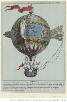 Projet d'un superbe balon de 120 pieds de diamètre qui doit être enlevé à Dijon - estampe