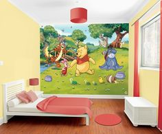 Winnie the Pooh Girls Wallpaper murals for bedroom or playroom Ireland