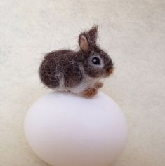 Nadel Gefilzte Bunny, Baumwollschwanzkaninchen, winzige