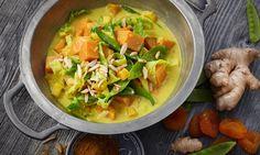 Wirsingcurry mit Süßkartoffeln Rezept: Schnelles Curry vegan mit Süßkartoffeln, Wirsing und Zuckerschoten - Eins von 7.000 leckeren, gelingsicheren Rezepten von Dr. Oetker!