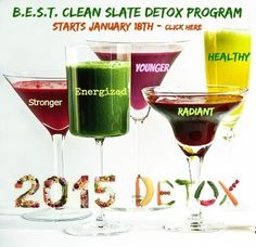 Making the B.E.S.T. Plan Better with our NEW Detox Cleanse  What's new for you in 2015? I would love to know. As for us at Human@Ease, we're working on adding new and better things to serve our clients. Now that brings us to our brand new Detox Cleanse Program.  See the picture below for the detox cleanse (a $495 value) but 'free' for anyone participating before Jan. 18th.