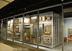 open area for museum collection storage with eto art racks