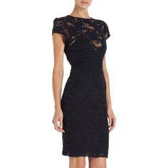 L'Agence Floral Lace Dress ($595) ❤ liked on Polyvore