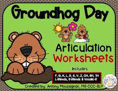 These NO PREP Groundhog Day Articulation Worksheets are a quick and easy activity to do with your speech students. It includes the following sounds F, G, K, L, R, S, V, Z, CH, SH, TH, L-Blends, S-Blends & Vocalic-R. No worries about prepping....just print and go!Check out my Valentine products h...