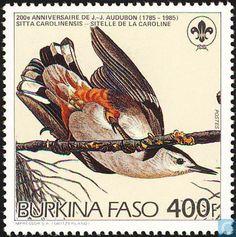 Postzegels - Burkina Faso [BFA] - Audubon