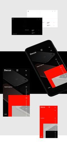Decus. Digital agency on Behance