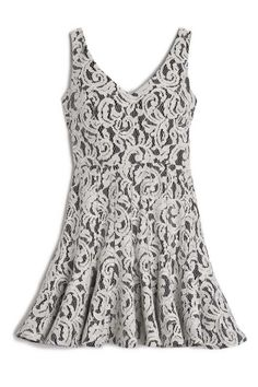 RAHMAN Fit & Flare Dress With Open Back from Jay Godfrey.  Fit & Flare Dress with Open Back   100% Polyester BONDED LACE DRY CLEAN ONLY