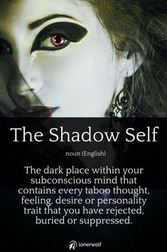 """We all have a """"dark"""" side. How dominant is your Shadow Self and how does it affect your life? Discover your answer in our free Shadow Self Test. Healing Quotes, Spiritual Quotes, Spiritual Practices, Carl G Jung, Dark Places, Chakra Healing, Book Of Shadows, Archetypes, Spiritual Awakening"""