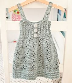 #Crochet dress pattern also for sale from Mon Petit Violon; all of her patterns make great gift items for children!