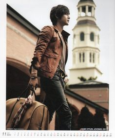 dark wash jeans. fitted leather jacket. and hey, kim hyun joong doesn't hurt, either ;) <3<3<3