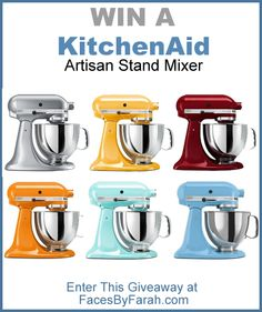 Kitchen Aid Mixer, Kitchen Appliances, Kitchenaid Artisan Stand Mixer, Kitchen Supplies, Kitchen Accessories, Giveaway, Personality, Gadgets, Faces
