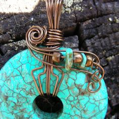 wire wrapped donut pendants - Google Search