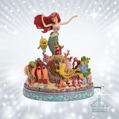 Arielle SPIELUHR Jim Shore Disney Traditions Under the Sea Meerjungfrau 4039073