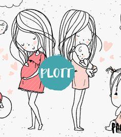 Plottervorlagen – Paul & Clara