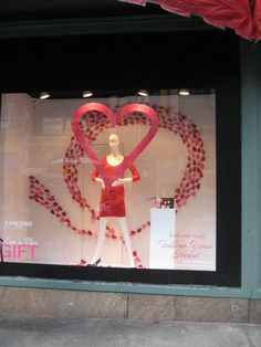 Macy's Valentines Day window We have this style mannequin at MannequinMadness.com