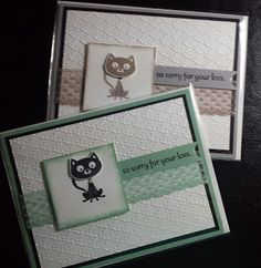 By The Shore Stamping with Jen Pitta: Pet Sympathy Cards (Kitty)