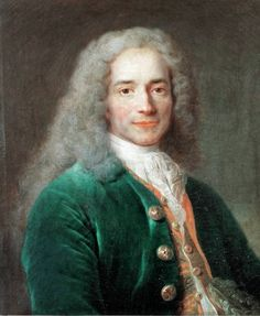 Bild: Nicolas de Largilliere - Voltaire / Gemaelde von Largillière