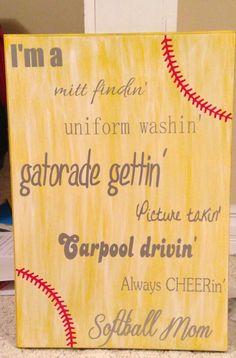 Softball sign @Denise H. H. H. H. H. Beltran