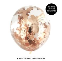 Rose Gold Confetti Balloons Copper Balloons Rose Gold