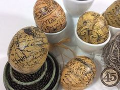 Make Botanical Tea decoupage eggs with a great tutorial from Denise Johnson! Isn't this great? #graphic45 #easter