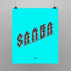 Poster Samba Rock 55x66cm Shop: locomattive.com.br