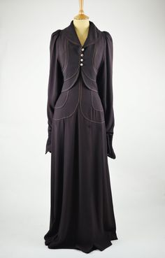1970s Vintage Dress by Bill Gibb Brown with Jacket