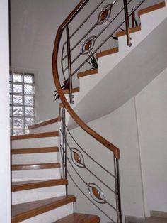 Balustrada din inox combinar cu lemn