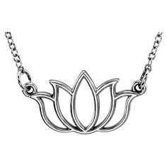 14k Gold Petite Lotus Flower Necklace