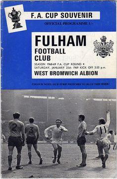 Vintage Football soccer Programme Fulham v by DakotabooVintage